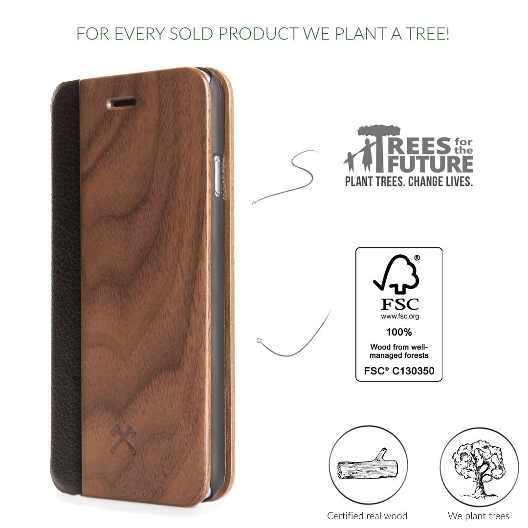 EcoFlip - iPhone Real Wood FlipCase
