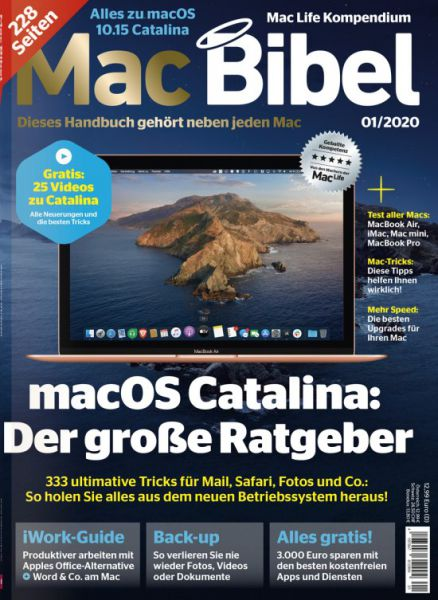 MacBibel 01/2020  - aktuelle Ausgabe jetzt beim Verlag sichern