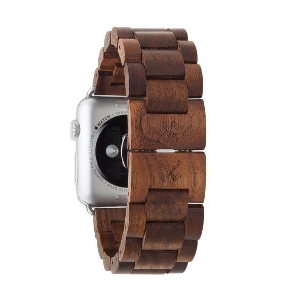 EcoStrap- Wooden Apple Watch Band - Walnuss-silber