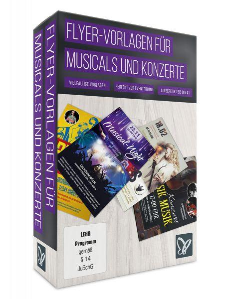 Flyer-Vorlagen für Musicals, Discos und Konzerte