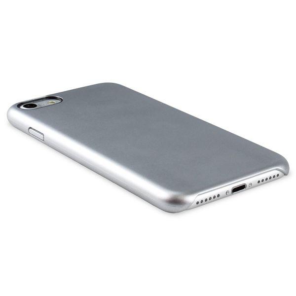 Premium Silikon Case für iPhone 7 Silber